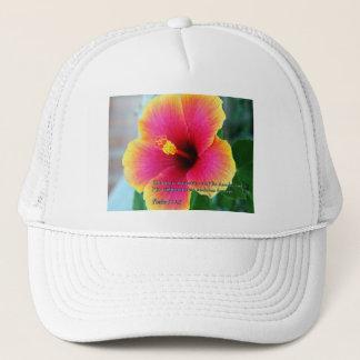 Psalm 111:3 Hibiscus Trucker Hat