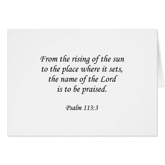 Psalm 113:3 card