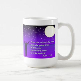 Psalm 113:3 - Jesus is the Answer Coffee Mug