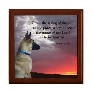 Psalm 113:3 Jewelry Box with German Shepherd