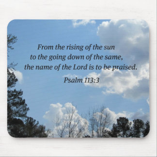 Psalm 113:3 mouse pad