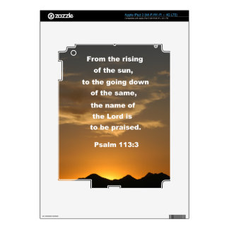 Psalm 113:3 skins for iPad 3