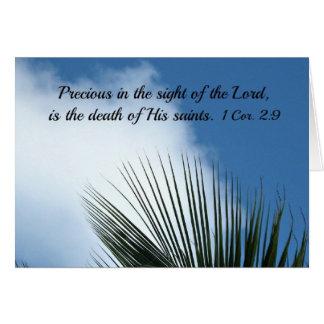 Psalm 116:15 card