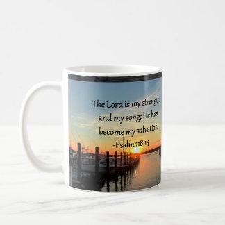 Psalm 118 14 SUNSET OVER THE LAKE PHOTO Coffee Mug