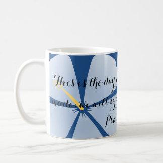Psalm 118:24 Blue Hibiscus Bible Verse Mug