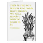 Psalm 118:24 Green Lilies of the Valley Greeting Card