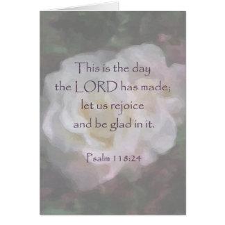 Psalm 118:24 ~ Let us Rejoice Card