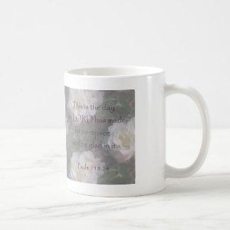 Psalm 118:24 ~ Let us Rejoice Mug