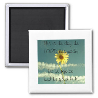 Psalm 118:24 2 inch square magnet