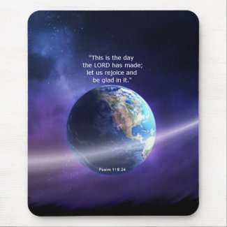 Psalm 118:24 mouse pad