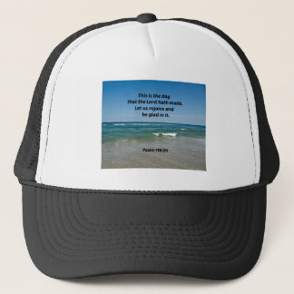 Psalm 118:24 This is the day that the Lord hath Trucker Hat