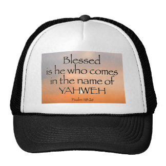 Psalm 118:26 Hat