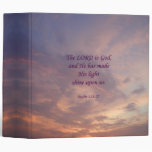 Psalm 118:27 Lord Is God 3 Ring Binder
