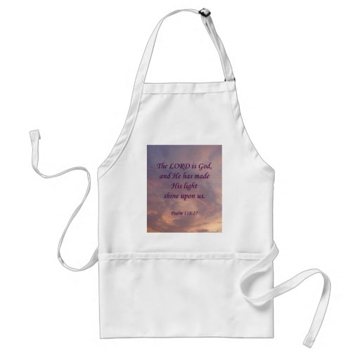 Psalm 118:27 Lord Is God Aprons