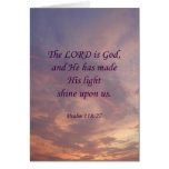 Psalm 118:27 Lord Is God Cards