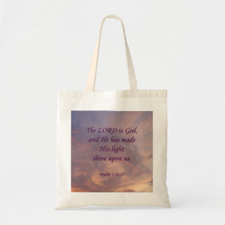 Psalm 118:27 Lord Is God Tote Bag