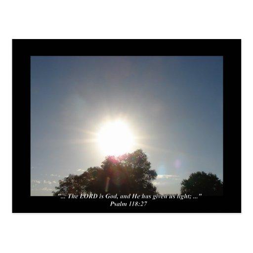 Psalm 118:27 postcard