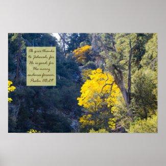 Psalm 118:29 Poster print