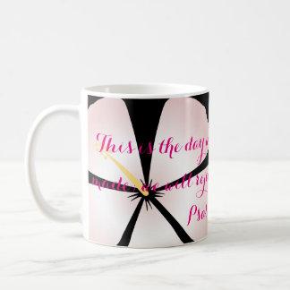 Psalm 118:2 Pink / White Tropical Mug Bible Verse