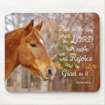 Psalm 118 Bible Verse Chestnut Horse Mousepads