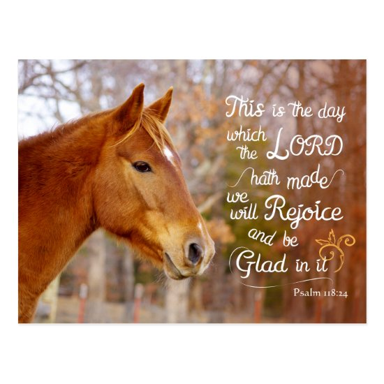 Psalm 118 Bible Verse Chestnut Horse Postcards