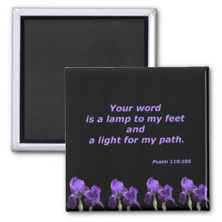 Psalm 119:105 2 inch square magnet