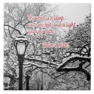 Psalm 119:105  Bible Verse Custom Christian Gift Tiles