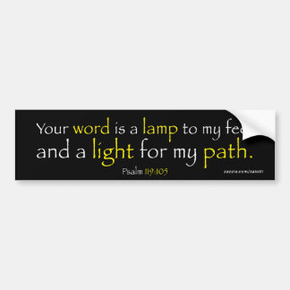 Psalm 119:105 bumper sticker