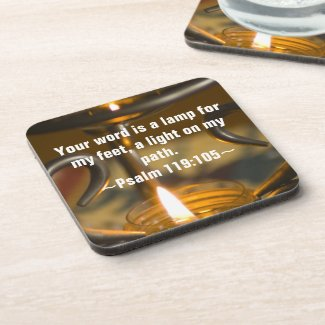 Psalm 119:105 Coaster Set corkcoaster