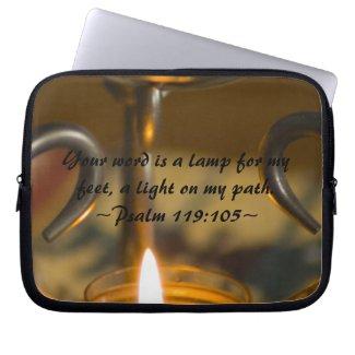 Psalm 119:105 Electronics Sleeve electronicsbag