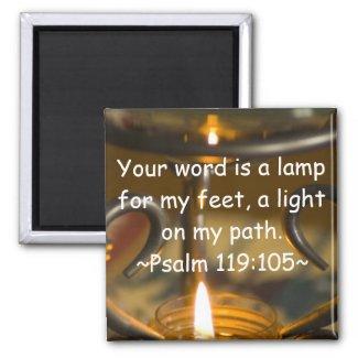 Psalm 119:105 Magnet magnet