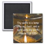 Psalm 119:105 Magnet Refrigerator Magnet