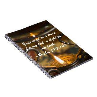 Psalm 119:105 Notebook notebook