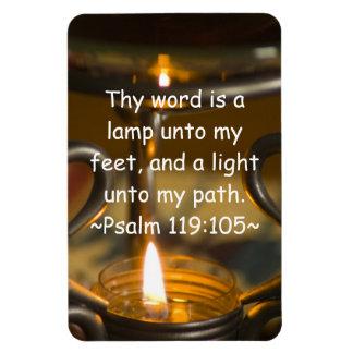 Psalm 119:105 Premium Magnet