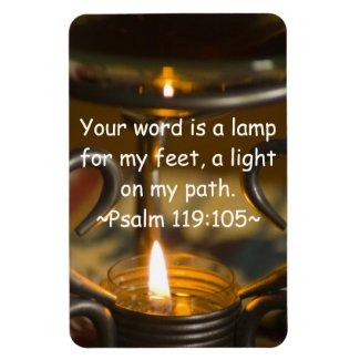 Psalm 119:105 Premium Magnet premiumfleximagnet