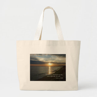Psalm 119:105 Thy word is a lamp Tote Bags