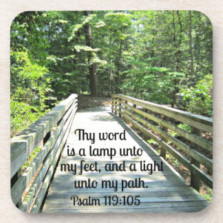 Psalm 119:105 Thy word is a lamp... Beverage Coaster