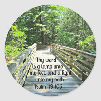 Psalm 119:105 Thy word is a lamp... Classic Round Sticker