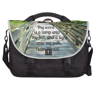 Psalm 119:105 Thy word is a lamp... Laptop Messenger Bag