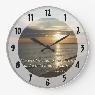 Psalm 119:105 Thy word is a lamp Large Clock