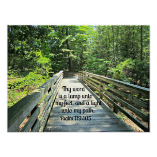 Psalm 119:105 Thy word is a lamp... Poster