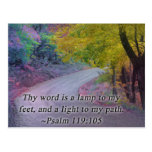 PSALM 119:105 THY WORD - LIGHT TO MY PATH - POST CARDS