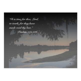 Psalm 119:126 postcard