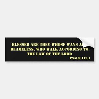 Psalm 119:1 bumper sticker