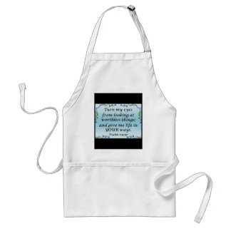 Psalm 119:37 adult apron