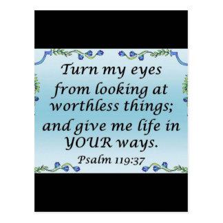 Psalm 119:37 postcard