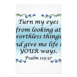 Psalm 119:37 stationery
