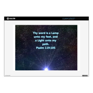 "Psalm 119 bible verse decals for 15"" laptops"