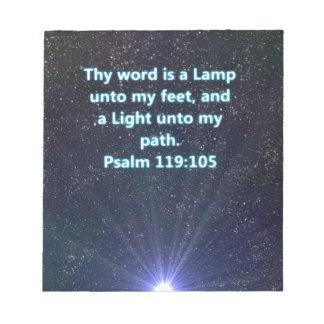 Psalm 119 bible verse note pad