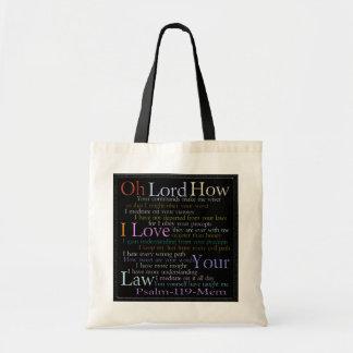 Psalm 119 Mem Stone Tablet Canvas Bags